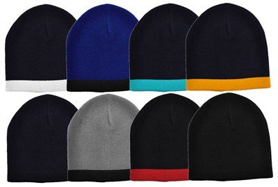 Acrylic Two Tone Beanies make fun promotional clothing accessories tha 7cd20b1ac62