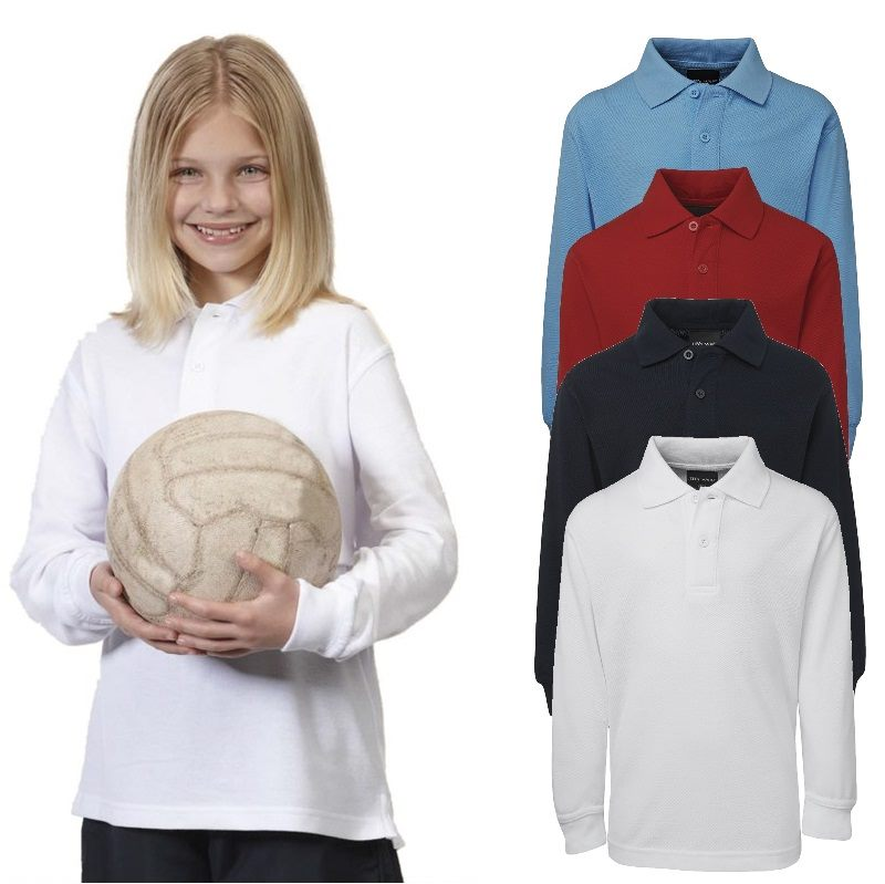 Long Sleeve Kids Polo Shirts From Sizes 4 To 14 Are Sought
