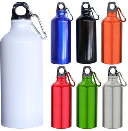 custom printed aluminium sports bottles come in a range of colours wit