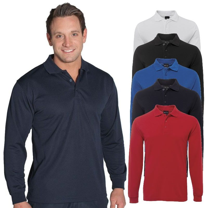 70148205 Customized Long Sleeve Polos can be custom embroidered with your ...