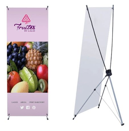 Printed Medium X-Frame Banners Indoor Use are very easy to set up and