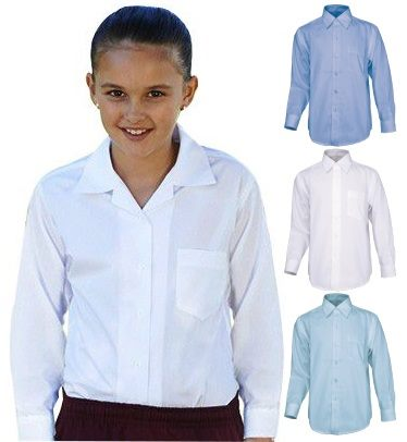 caaa59adc The customised girls long sleeve school shirt are competitively priced