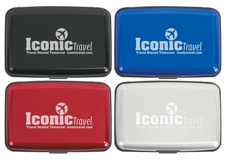 more photos 8ace6 f6d4b Hard Case Business Card Holders include 6 inside pockets for business
