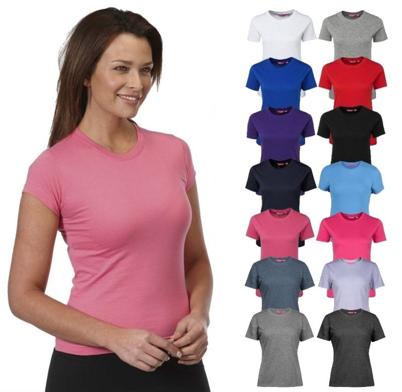 da84afa6 Ladies Fitted Cotton T Shirts from size 8 to size 20 t shirts are comb