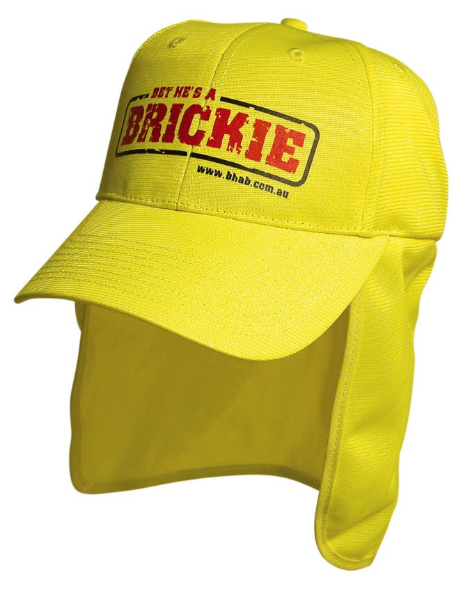 a10cef70738aa Branded Legionnaire cap in hi vis colours of green or orange