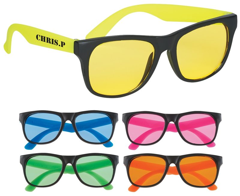 Customised Lunar sunglasses protect with tinted UV400 lenses