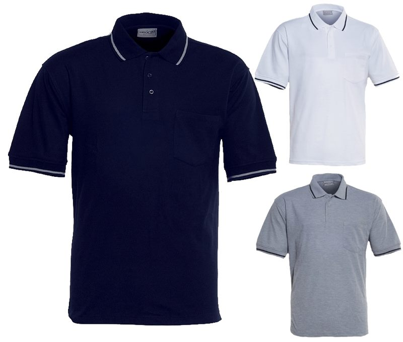 66f0b1df Mens Promotional Pocket Polo Shirts embroidered with your unique ...