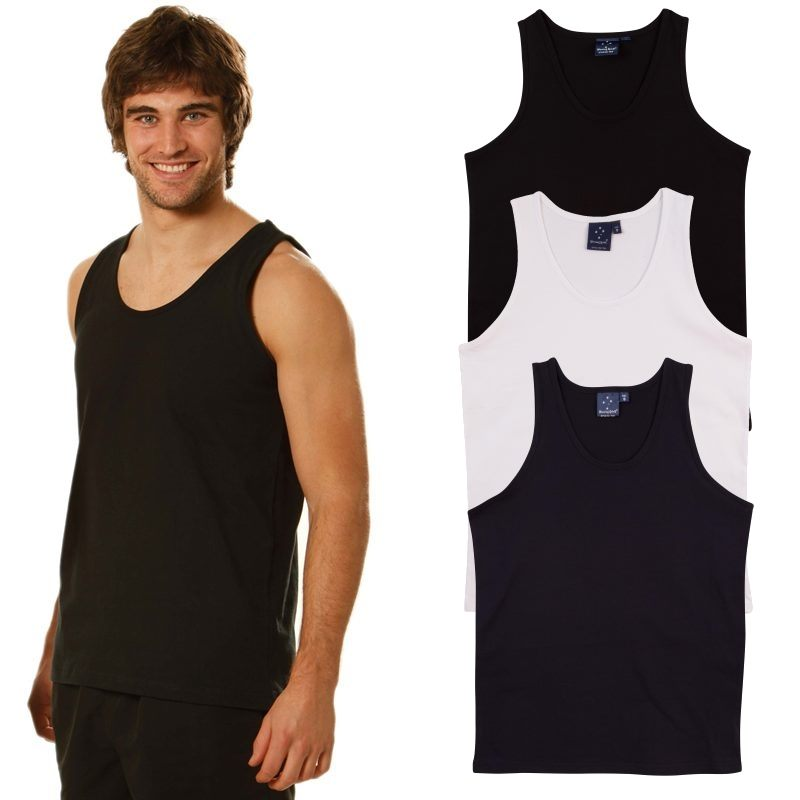 Cotton mens singlets feature upf50 sun protection for Singlet shirt for mens