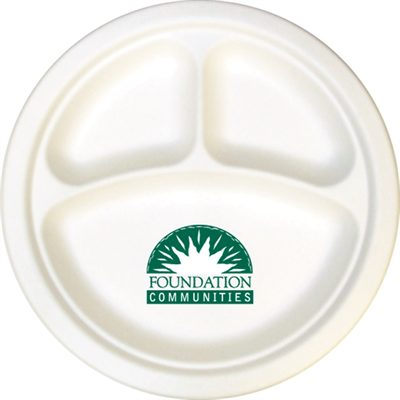 255mm Compostable Compartment Paper Plate  sc 1 st  PromotionsOnly & 255mm Compostable Compartment Paper Plates are ideal for peanuts and c