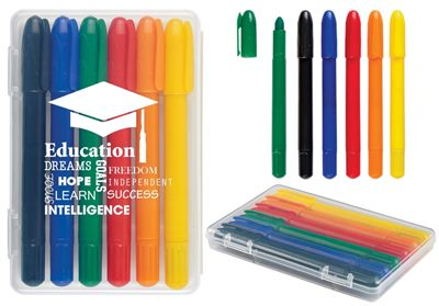 6 Retractable Crayons