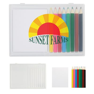 8 Piece Coloured Art Set