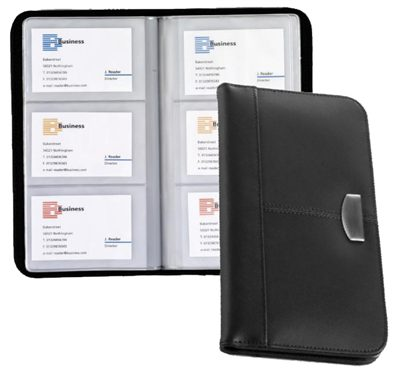 Black Business Card Folders are deluxe business card