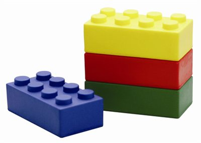 Building Block Stress Relievers Are Available In Blue