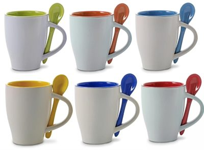 Coffee Mugs And Spoon Are Top Quality Ceramic Mugs