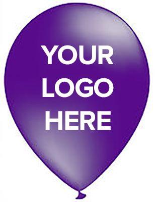 Custom Purple Party Balloons