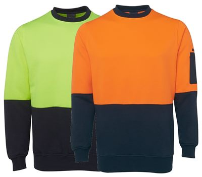 Crew Neck Hi Vis Sweat Top