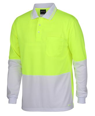 7bfec5fda294 Hi Vis Long Sleeve Polo Shirts in the same seven colours as our short