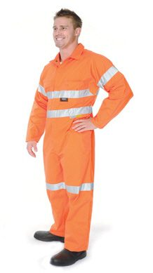 Orange Work Jumpsuit