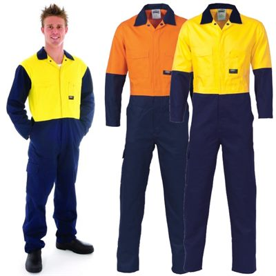 High Vis Cotton Work Coverall