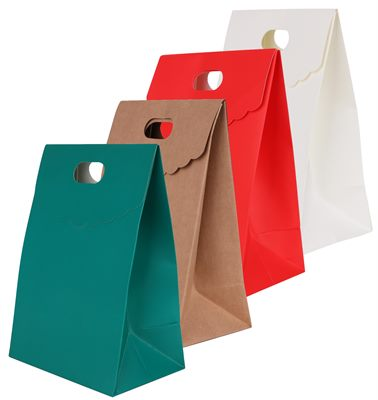Uplift your ladies events with Branded Die Cut Handle Bags With Flap.