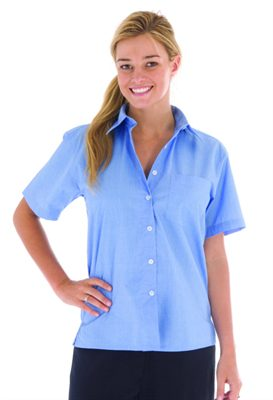 Ladies chambray short sleeve shirts are premium quality for Short sleeve chambray shirt women