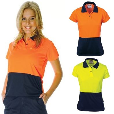 3ec9ebdcf87 Ladies Two Tone Polo Shirt