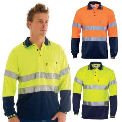 Long sleeve reflective tape hi vis shirts include a large for Hi vis shirts with reflective tape