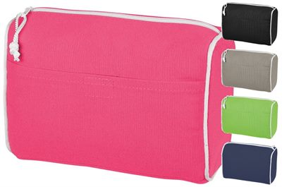 Poly Canvas Toiletry Bag