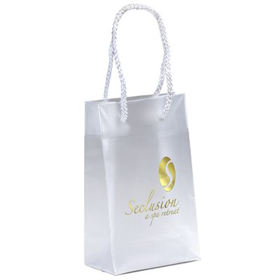 8a1ed1b95e Rope Handle Plastic Frosted Bags are small bags at 127W x 76 x 203H m