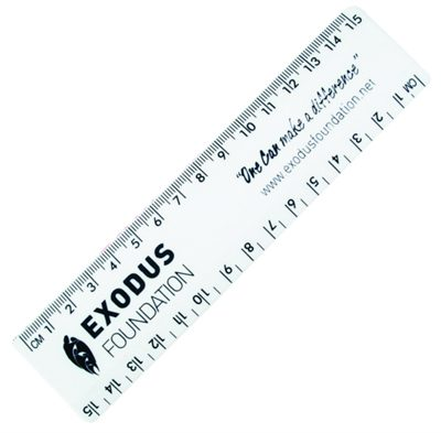 Small Plastic Rulers In 15cm Length Are Made From White