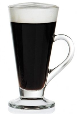 Traditional Irish Coffee Glasses are built specifically for this tasty