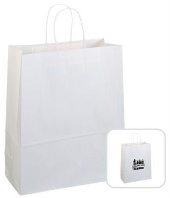 white custom paper bags