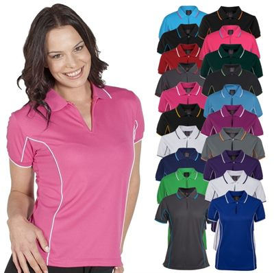 Womens Embroidered Sports Polo Shirts Are Fantastic Team Sports Polos