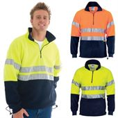 1/2 Zip Hi Vis Polar Fleece Sweat Top