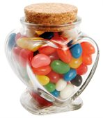 100 gram Glass Heart Jar Mixed Mini Jelly Beans