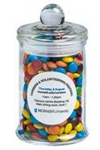 115g Mini M&Ms Glass Jars
