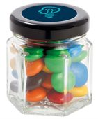 35 gram Small Hexagon Jar Choc M&Ms