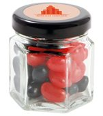 40 gram Small Hexagon Jar Corporate Colour Mini Jelly Beans