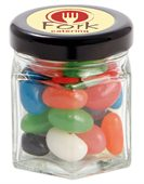 40 gram Small Hexagon Jar Mixed Mini Jelly Beans