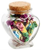 55 gram Glass Heart Jar Toffees