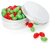 70g Single Colour Mini Jelly Beans Twist Tin