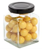 90 gram Small Square Jar Corporate Colour Chocolate Balls