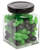 90 gram Small Square Jar Corporate Colour Mini Jelly Beans