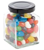 90 gram Small Square Jar Mini Jelly Beans