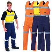 Action Back High Vis Work Coverall
