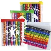 Coloured Crayons in PVC Pouch
