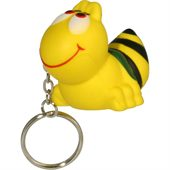 Yellow Bee Keyring