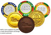 Caesar Embossed Chocolate Coins