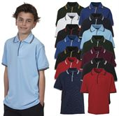 Kids Contrast Trim Polo Shirt