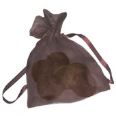 Chocolate Logo Coin Organza Bag